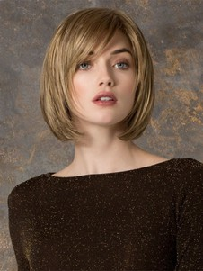 Blonde Marvelous Lace Front Bob Human Hair Wig