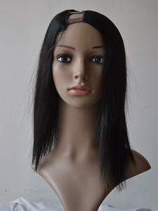 Straight Natural Medium U Part Wig