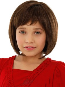 Fashion Brown New Lace Front Kids Wig