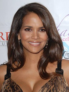 Hairstyle Halle Berry's Wavy Elegant Human Hair Wig