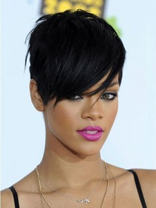 Rihanna Synthetic Short Hairstyle Celebrity Wig