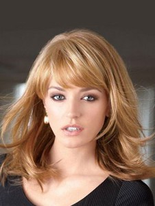 Synthetic Modern Layers Lace Front Wig For Woman