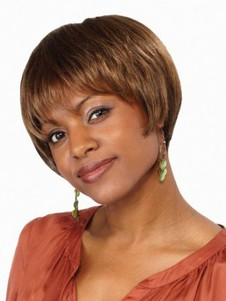 Straight Stylish Short Synthetic Bob Wig