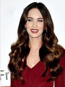 Hairstyle Megan Fox Wavy Romantic Lace Front Wig