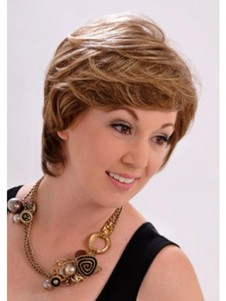 Chic Perfect Monofilament Brown Short Wavy Wig