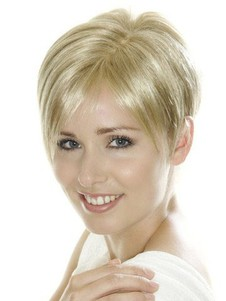 Light Synthetic Blonde Cropped Short Lace Wig For Woman
