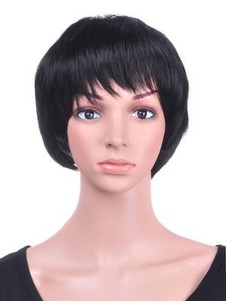 Short Layered Smooth Synthetic Bob Wig