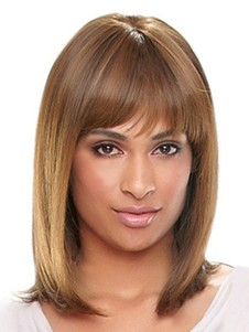 Synthetic Silky Straight Long African American Wig