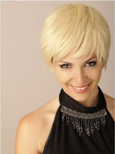 Good Looking Synthetic Short Straight Blonde Boycuts Wig