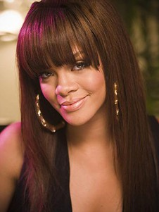 Rihanna Human Hair Perfect Mono Top Straight Lace Front Wig