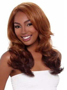 Layelong Wavy Synthetic Red African American Wig