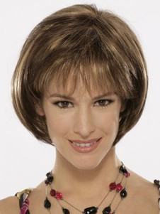 Capless Elegance Bob Style Synthetic Wig