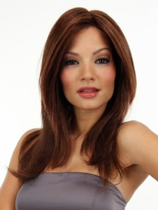 Pretty Silky Lace Front Straight Human Hair Wig