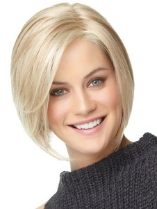 Straight Medium Human Hair Length Bob Wig