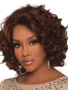 Chante Human Hair Wavy Lace Front African American Wig