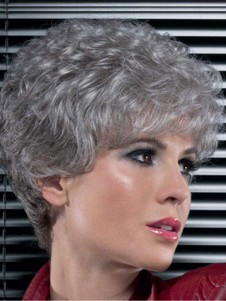Lace Front Synthetic Stylish Gray Wig