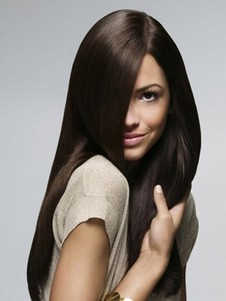 Synthetic Heat Friendly Full Lace Straight Wig For Woman