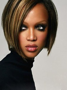 Tyra Banks Human Hair Charming Straight Lace Front Wig