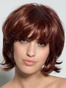 Short Natural Lace Front Wavy Synthetic Wig
