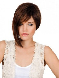 Lace Front Bob Style Synthetic Longer Side Wig
