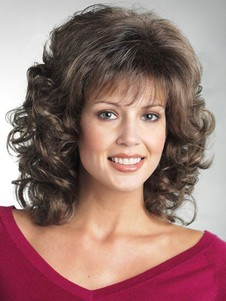 Length Synthetic Wavy Mid-nice-looking Wig