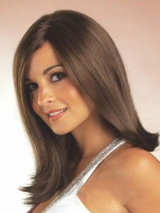 Shimmering Synthetic Lace Front Silky Straight Wig