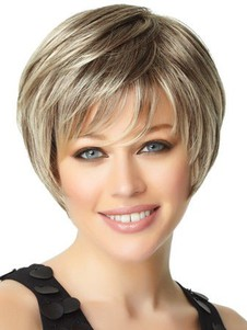 Red Layesynthetic Straight Stylish Bob Wig