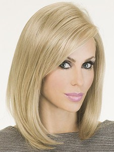 Graceful Silky Monofilament Straight Bob Wig