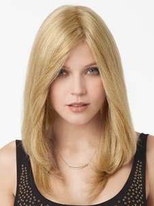 Light Remy Hair Blonde Lace Front Wig For Woman