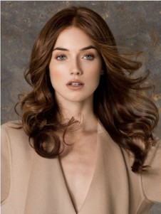 Monofilament Soft Wavy Brown High Quality Elegante Long Wig