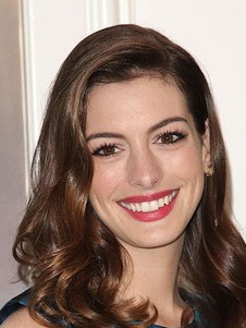 Anne Hathaway Wavy Human Hair Real Full Lace Celebrity Wig