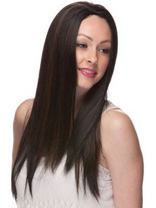 High Quality Synthetic Straight Long Capless 3/4 Wig