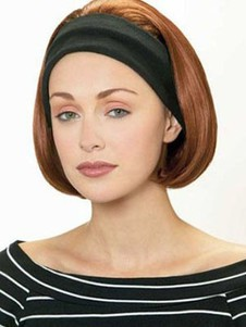 Straight Synthetic Short Capless 3/4 Wig