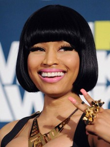 Length Nicki Minaj's Human Hair Fashion Short Celebrity Wig
