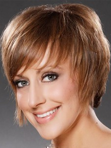 Synthetic Straight Short Capless Wig