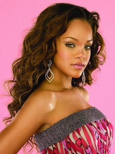 Rihanna's Synthetic Heat Friendly Long Celebrity Wig