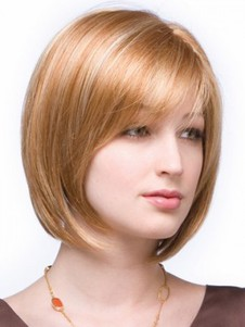 Bob Style With Side Bangs Short Wig