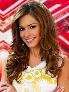 Chic Cheryl Cole Human Hair Long Celebrity Wig