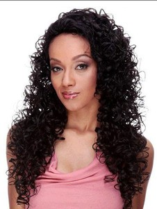 Curly Graceful Long U Part Wig