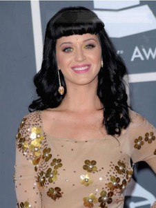 Katy Perry Human Hair Capless Celebrity Wig