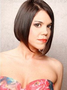 Straight Lace Front Short Attractive Remy Human Hair Wig