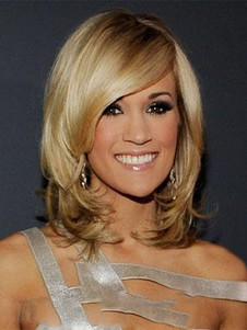 Carrie Underwood Medium Charming Synthetic Lace Front Wig