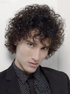 Synthetic Curly Short Fashion Hair Mens Wig