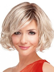 Clean Bob Wavy Full Lace Wig For Woman