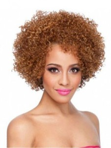 Curly Modern Medium African American Wigs