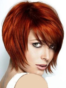 Short High Quality Synthetic Capless Wig
