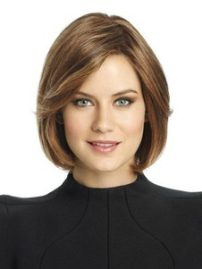 Remy Human Hair Bob Style Lace Front Wig