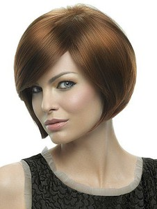 Lace Front Attractive Syntheticstraight Bob Wig