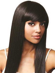 Straight Silky Remy Human Hair Full Lace Wig For Woman