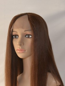 Straight Lace Front Human Hair Long U Part Wig